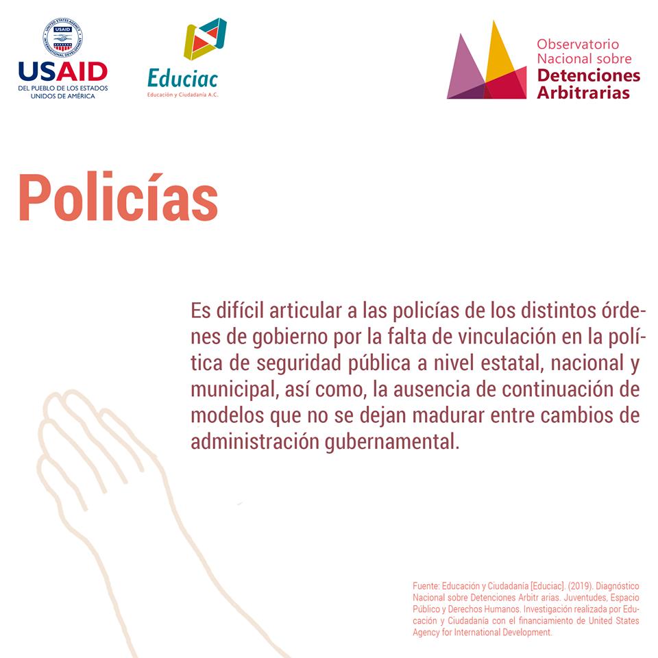 Detenciones arbitrarias: Policias