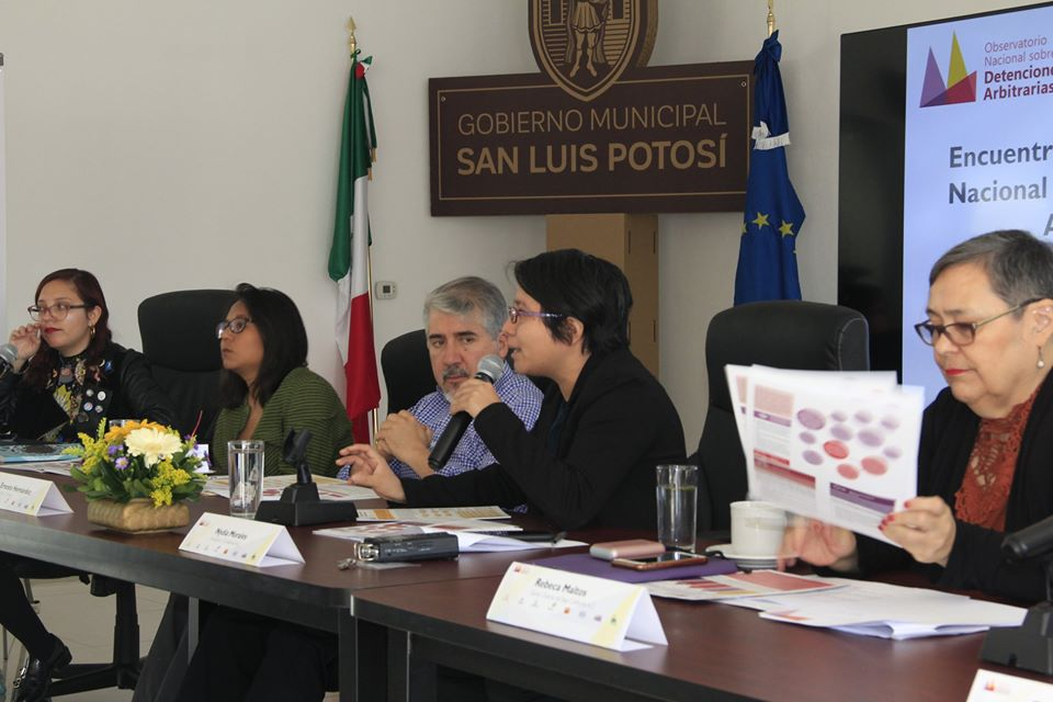 Encuentro del Observatorio Nacional sobre Detenciones Arbitrarias en SLP
