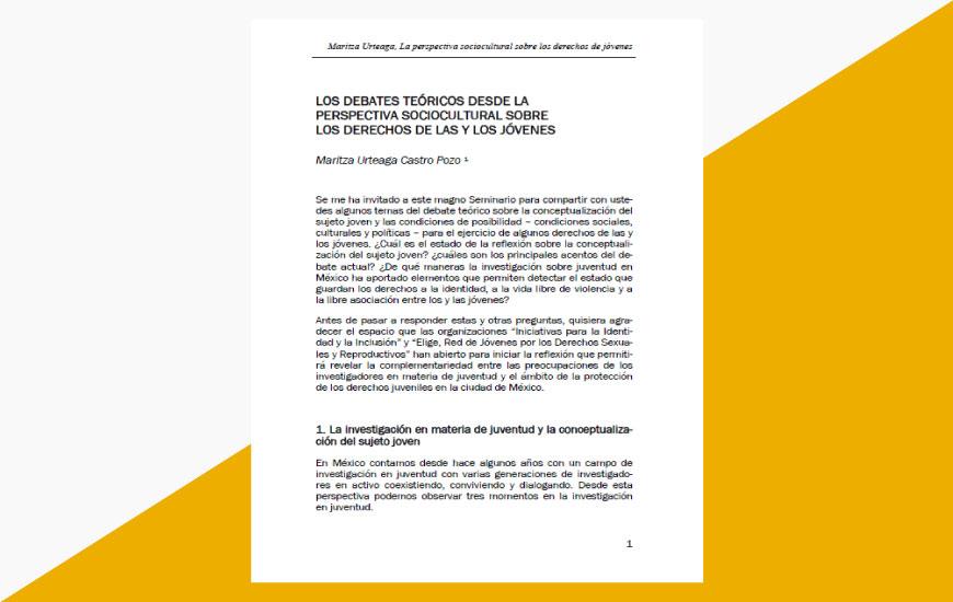 La perspectiva sociocultural sobre los derechos de los jóvenes