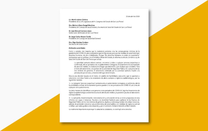 No a la reforma al art 114 de salud SLP